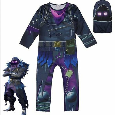 Battle Royale chilren Skull Trooper Skin Cosplay Boys Clothes Christmas Costumes