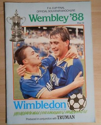 Wimbledon FC 1988 FA Cup Final souvenir Brochure issued by club