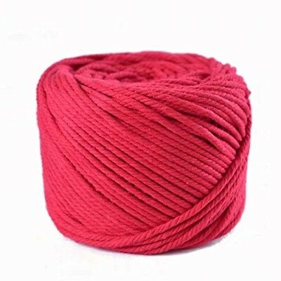 (Red, 4mm x 100m(About 109 yd)) Handmade Decorations Natural Cotton Bohemia Macr