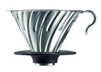 HARIO V60 Dripper Metal 1-4 cups Silver VDM-02HSV paper drip m132  from Japan