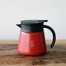 NEW Hario Coffee V60 Heat Retention Stainless Server 600 Red VHS-60R JAPAN F/S