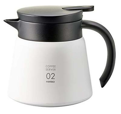 Hario V60 Thermos Stainless Coffee Server 600ml White VHS-60W from Japan F/S NEW