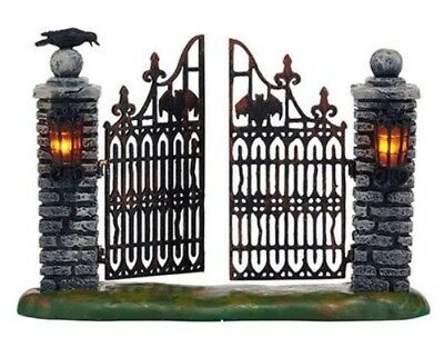 D56 SV Halloween Spooky Wrought Iron Gate Lighted BRAND NEW