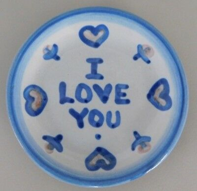 M A Hadley I Love You Coaster/Small Plate/Trinket Dish