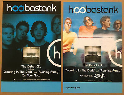 HOOBASTANK Rare 2001 DOUBLE SIDED 311 TOUR PROMO POSTER of S/T CD MINT USA 11x17