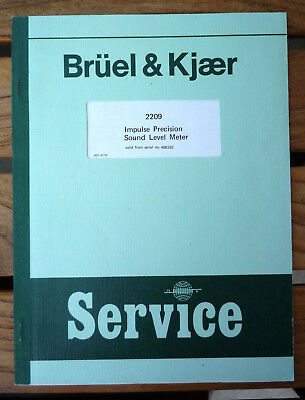 Brüel & Kjaer 2209 Präzisions Impulschallpegelmesser Sound-Level  SERVICE Manual