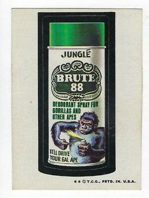 1973 Topps Wacky Packages 4th Series 4 BRUTE 88 DEODORANT ex+