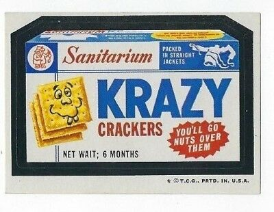 1974 Topps Wacky Packages 5th Series 5 KRAZY CRACKERS high-gloss nm o/c