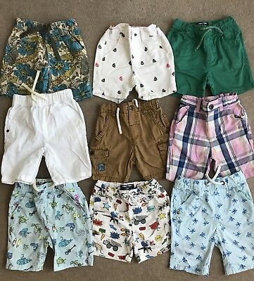 Next Large Bundle Of Baby Boy Colourful Bright Shorts 18-24 Months