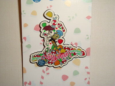 Disney-WDW-Mickey's Very Merry Christmas Party 2003-Jiminy With Candy Pin--LE