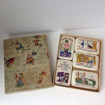 "Vintage ""Kiddie Illustrated Soap"" Nursery Rhyme Picture Soap w/Box"