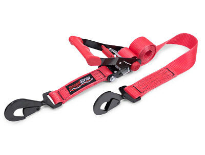 Speed Strap 2″ x 8′ Rachet Tie Down w/ Twisted Snap Hooks Wide 3300lb Red