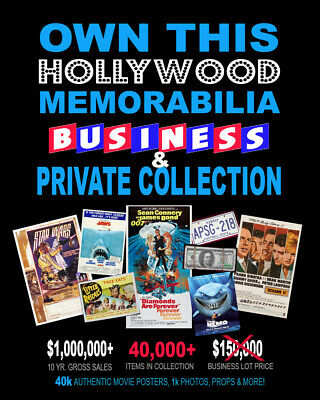 AMAZING • 30,000+ Movie Posters • Business & Private Collection • PROPS & MORE!