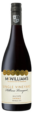 McWilliam's Single Vineyards Hilltops Shiraz 2015 (6 x 750mL) NSW.