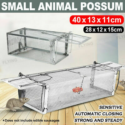 Humane Trap Live Small Animal Possum Cat Rabbit Hare Cage Catch Steady Sensitive