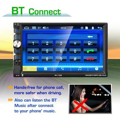 "7"" Double 2DIN Car Stereo MP5 Player FM Radio Bluetooth HD 1080P Touch Screen"