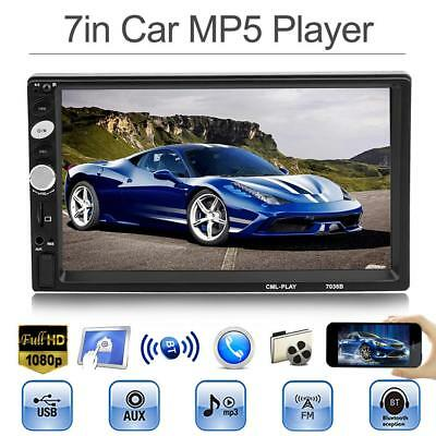 "7"" HD 1080P Car MP5 Player Bluetooth Touch Screen Stereo FM Radio Double 2DIN"