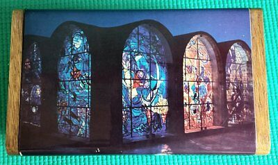 REUGE MUSIC BOX JERUSALEM of GOLD CHAGALL STAINED GLASS WINDOWS ABBELL SYNAGOGUE