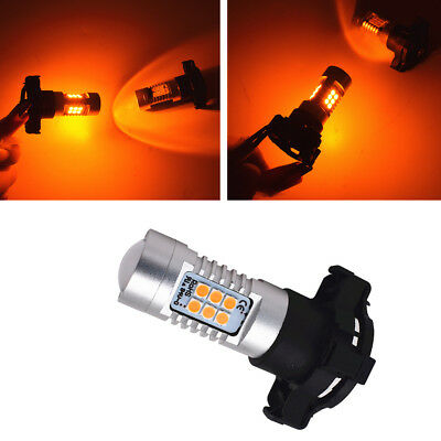 PY24W Error Free 21SMD LED Bulbs For BMW Front Turn Signal Lights (no flash)