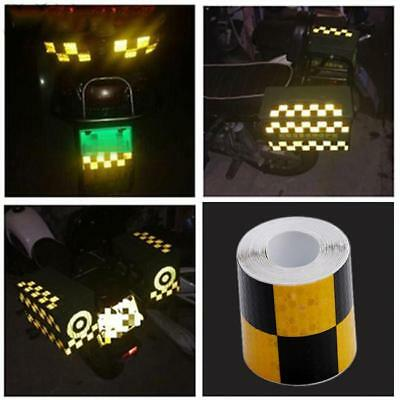 Reflective Safety Warning Tape Car Bike Motorcycle Sticker Glow LC