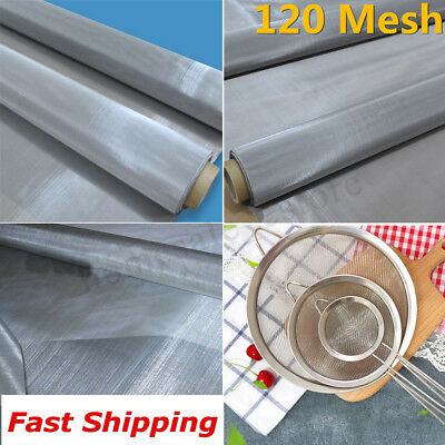 120 Mesh 304 Stainless Steel Dry Ice Pollen Filtration Screen 125 Micron 36x12''