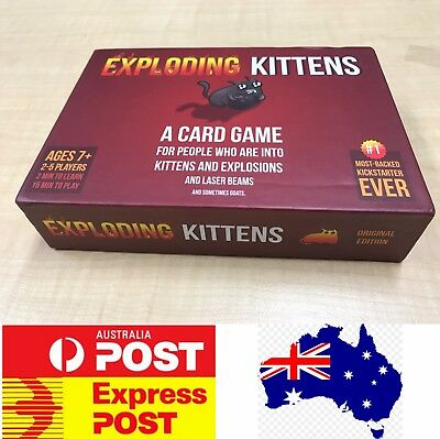 Funny board game: Exploding Kitten original red box