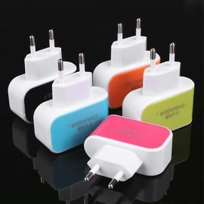 3 Port USB Wall Charger Station Travel AC Power Adapter for Universal Cell Phone