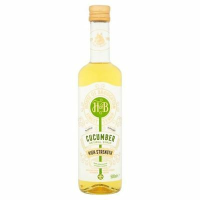4x House of Broughton Cucumber Natural Syrup 500ml