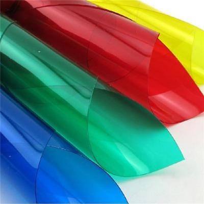 Coloured Transparent Acetate Heat Proof Sheet Crafts Plastic Film LC