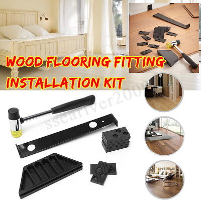 Wood Flooring Laminate Installation Floor Fitting Kit Set Tool Wooden Diy