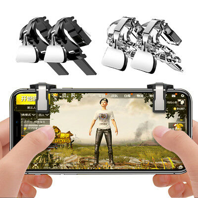 2PCs Mobile Phone Gaming Fire Button Trigger Handle L1R1 Shooter Controller PUBG