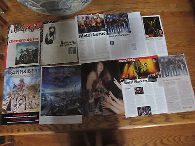 Iron Maiden French Us Clippings,poster.