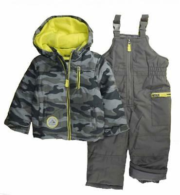Carter/'s Infant Boys Green Camo Two-Piece Snowsuit Size 12M 18M 24M