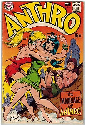 Anthro #6 1969 Catfight Cover Wood Art Dc Silver Age Nice!