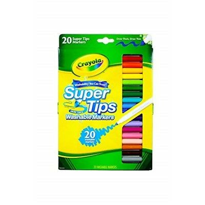 Crayola 20 Ct Super Tips Washable Markers - Super Marker