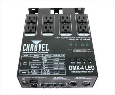 Chauvet DMX-4 LED 4 Channel DMX DJ Lighting Switch Dimmer Relay Power Pack
