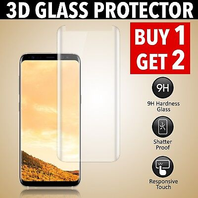 Full Tempered Glass Screen Protector For Samsung Galaxy S8 - Case Friendly
