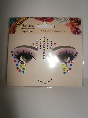 Bohemian Romance - Multicoloured Self-adhesive Face Art Jewels