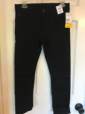 NWT H&M Boys Black Skinny Generous Size Jeans Denim Pants - Sz 9-10x NEW