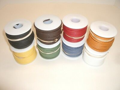 Ced S-W700L Set Of 8 50Ft 20Awg Cloth Covered Insulated Stranded Cu Hookup Wire
