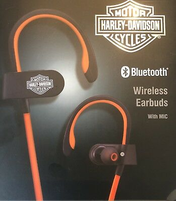Harley Davidson Bluetooth Wireless Earbuds With Microphone Brand New