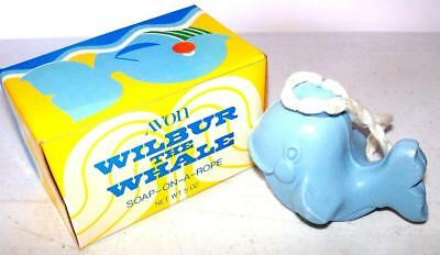 Vintage Avon Children's Soap WILBUR THE WHALE SOAP on a Rope 1974 NOS NIB