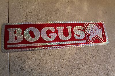 BOGUS (Thumbs Down) Funny Cool Vintage 3x11.5in. Reflective Prism Bumper STICKER