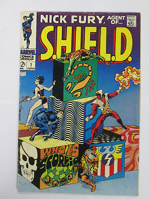 Nick Fury, Agent Of Shield #1  (1968 Marvel) 1St No Reserve