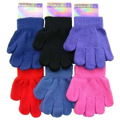 NEW Kids Girls Boys Childrens Toddlers MAGIC Winter Stretch GLOVES Ages 3 to 10