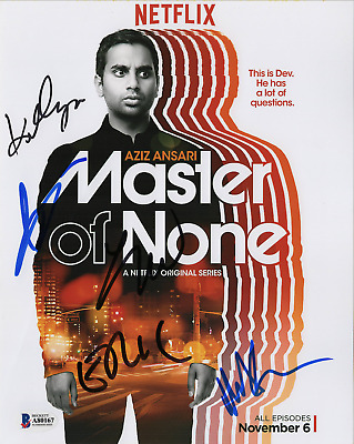 Master of None cast signed autographed 8x10 photo! RARE! Beckett BAS LOA!