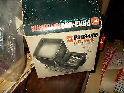 Vintage Vintage GAF Pana-Vue Automatic Lighted 2x2 Slide View in Original Box