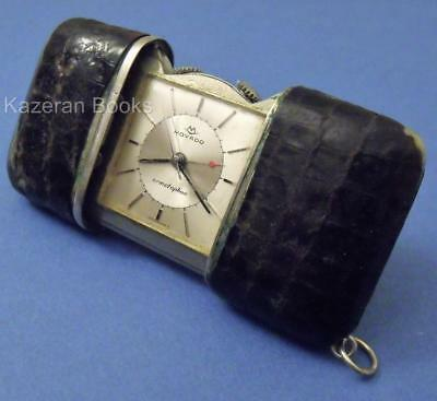 Art Deco Movado Ermetophon Folding Purse Travel Alarm Clock Pocket Watch