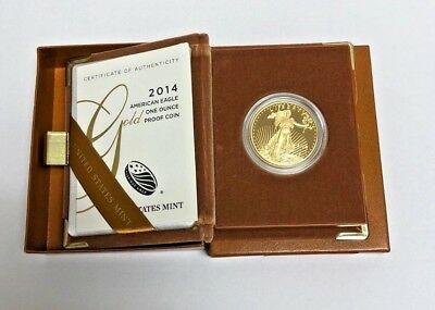 Gold American Eagle $50 1oz Proof Gold American Eagle Box & Cert (Random Date)