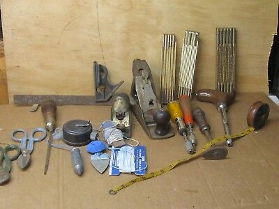 lot of Vintage Carpenter Tools Planes Rules